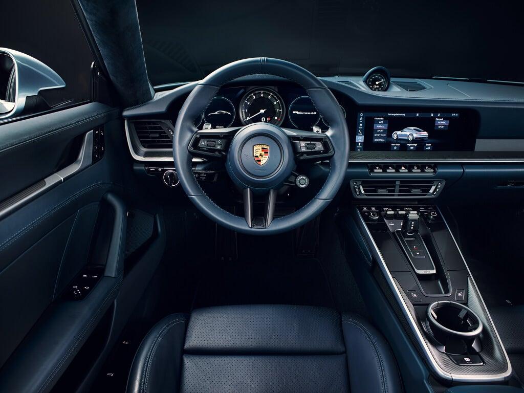 interior del Porsche 911 Carrera 4s