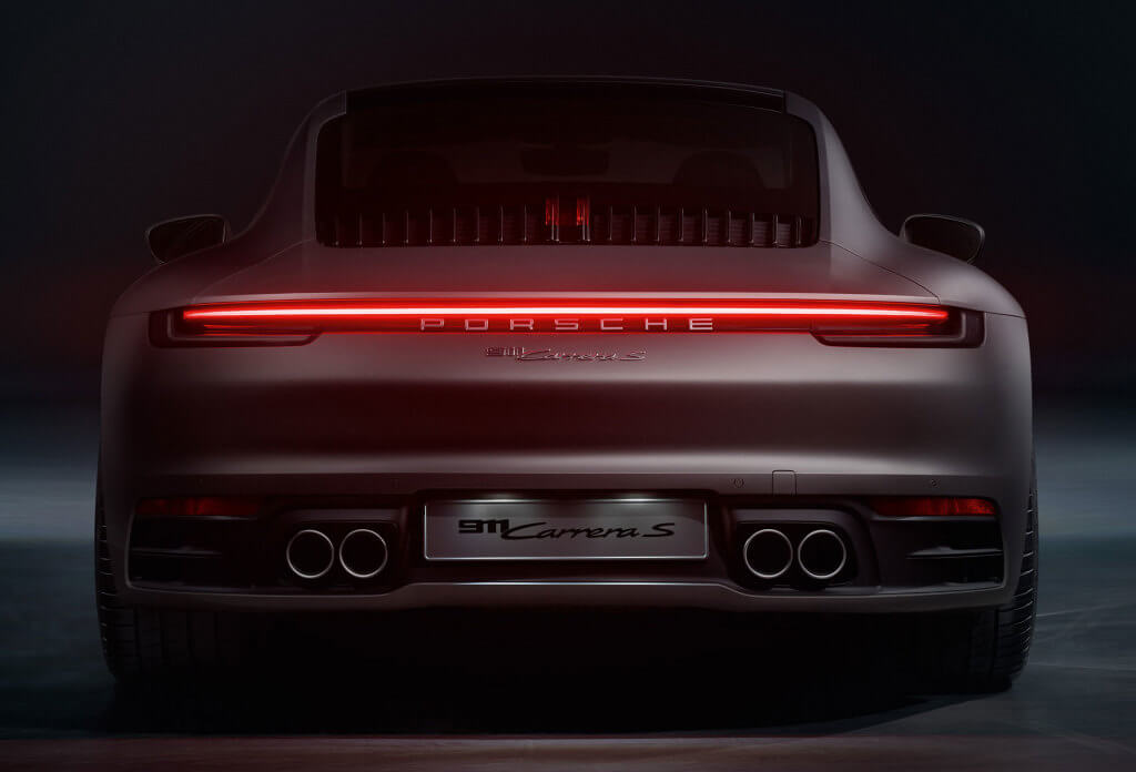 Parte trasera Porsche 911 Carrera 4s