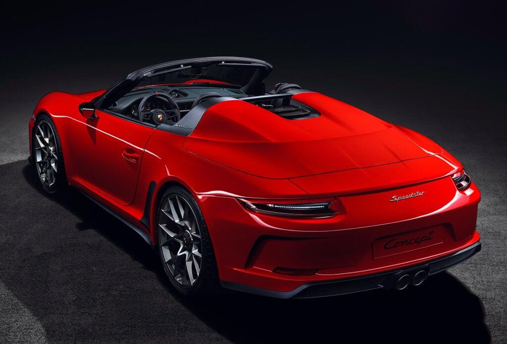 Vista trasera Porsche 911 Speedster concept II año 2018-trasera