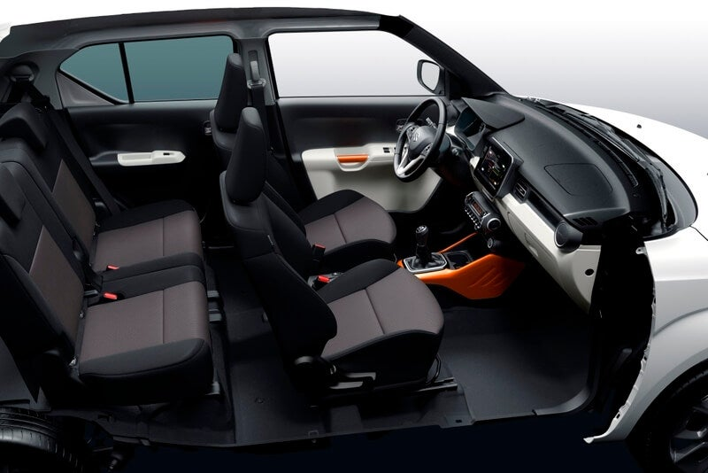 asientos Suzuki Ignis año 2017
