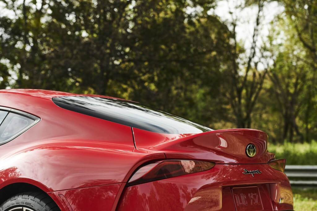 Detalle spoiler del Toyota GR Supra.
