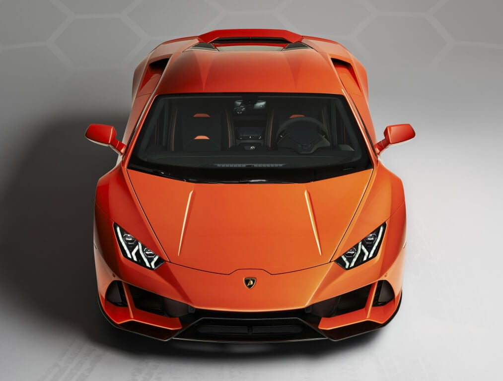 Lamborghini Huracan EVO: vista frontal.