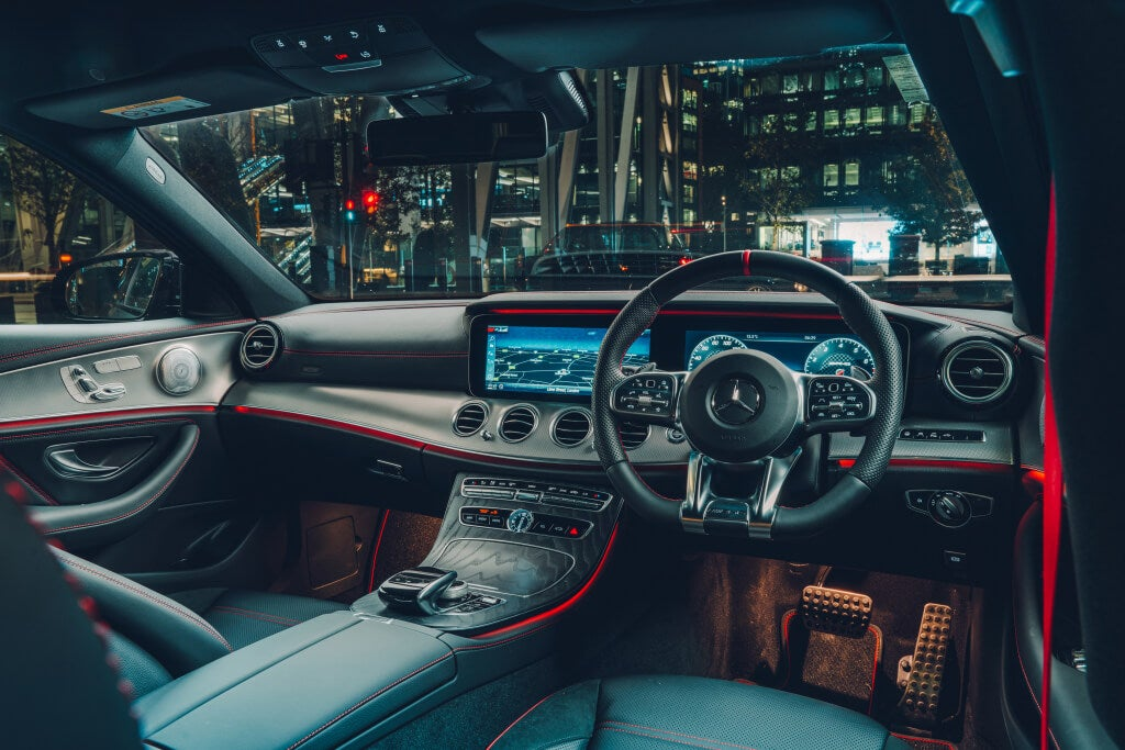 Mercedes-AMG E53: habitáculo.