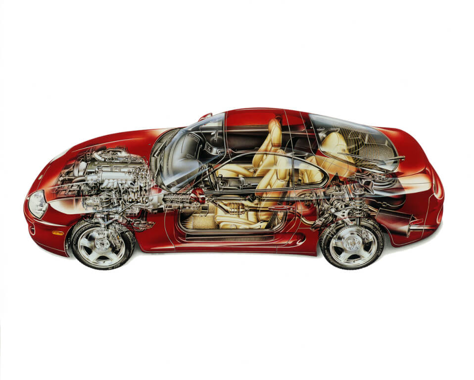 Toyota Supra A80: vista técnica.