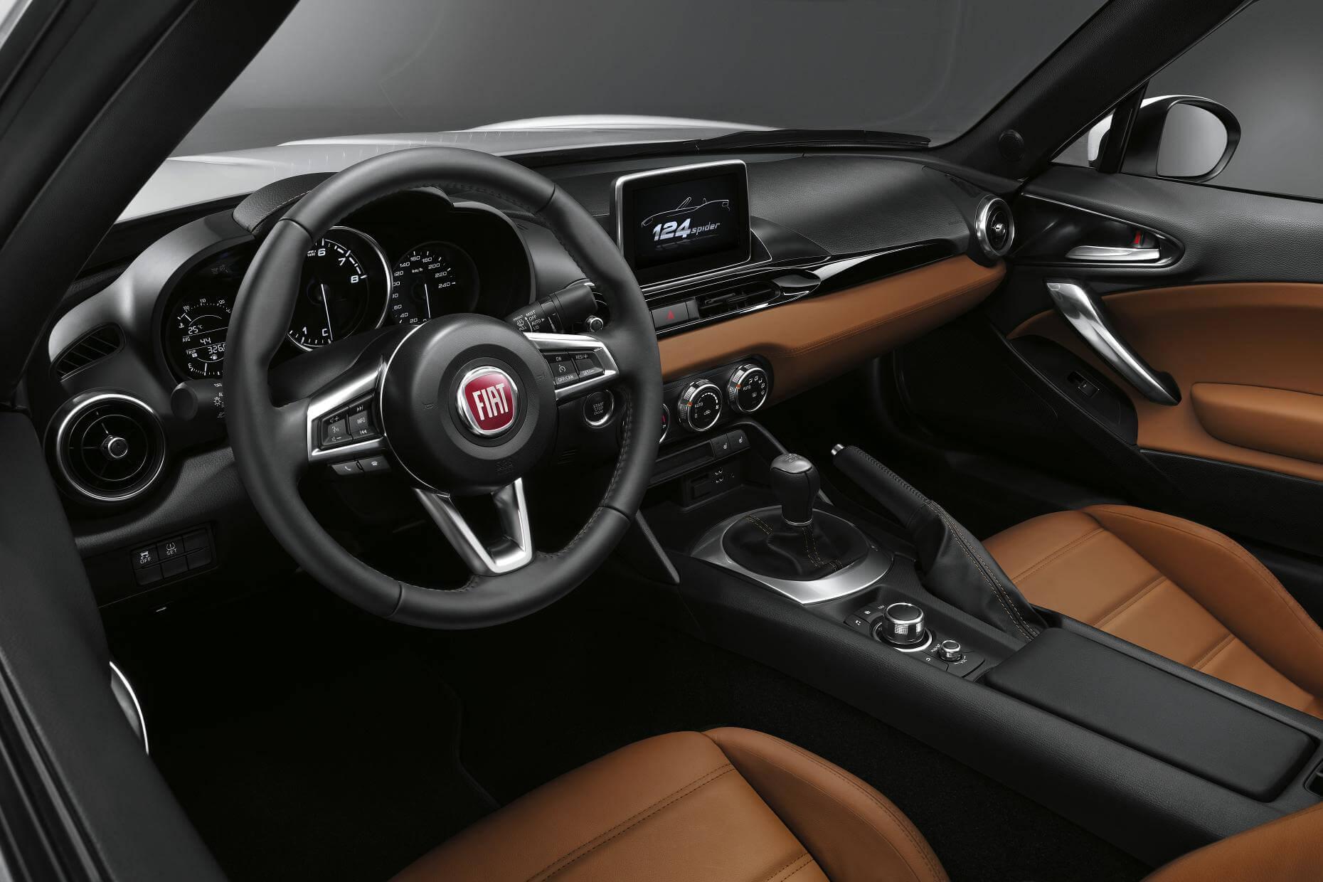 Fiat 124: interior