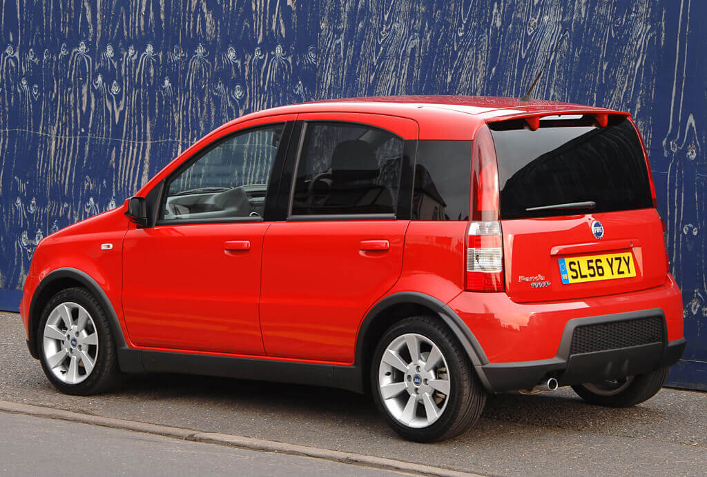 Fiat Panda 100HP: trasera