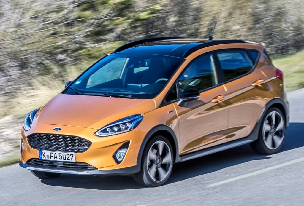 Frontal del Ford Fiesta Active.