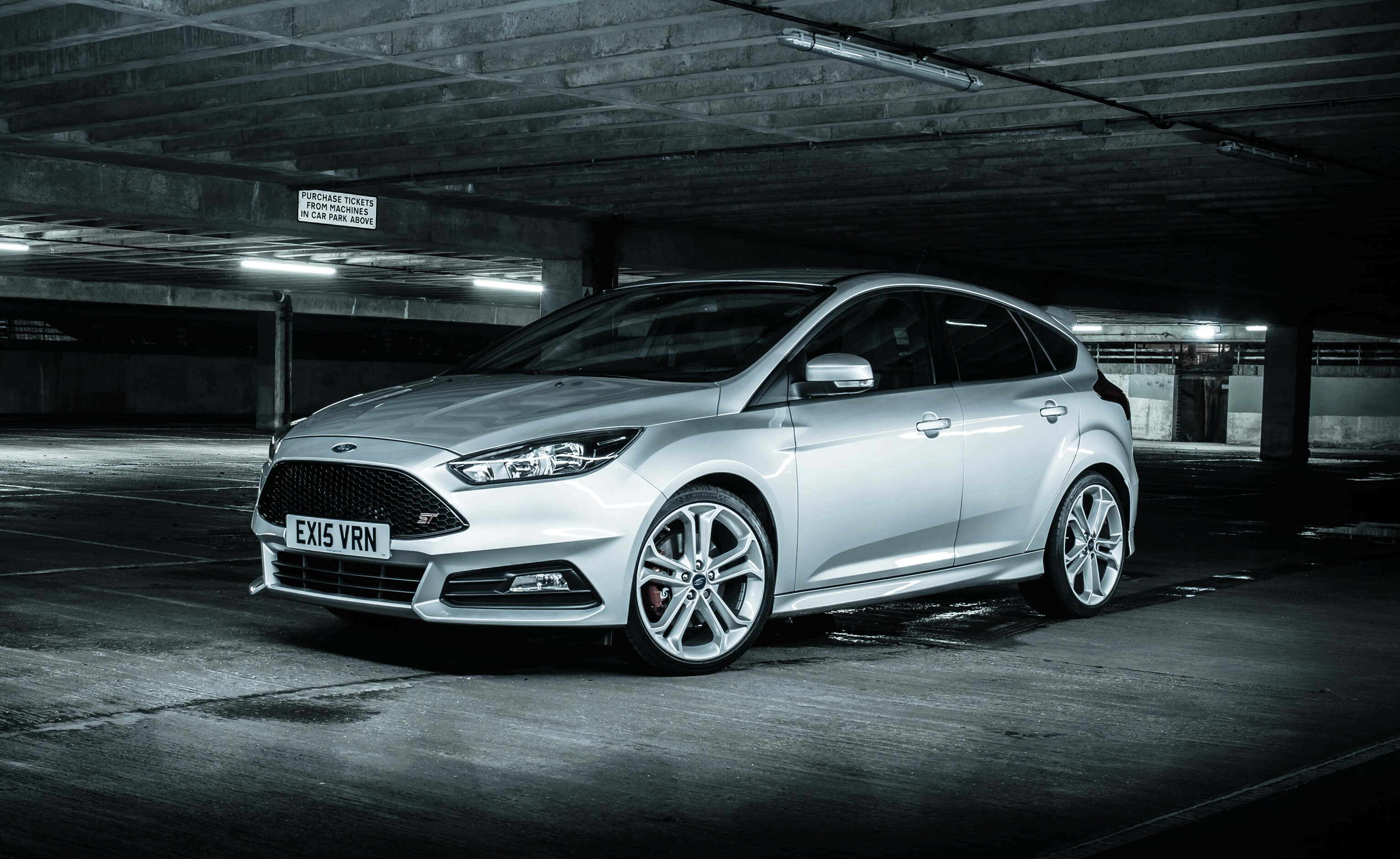 Frontal del Ford Focus ST.
