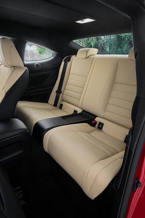 Lexus RC 300h: plazas traseras
