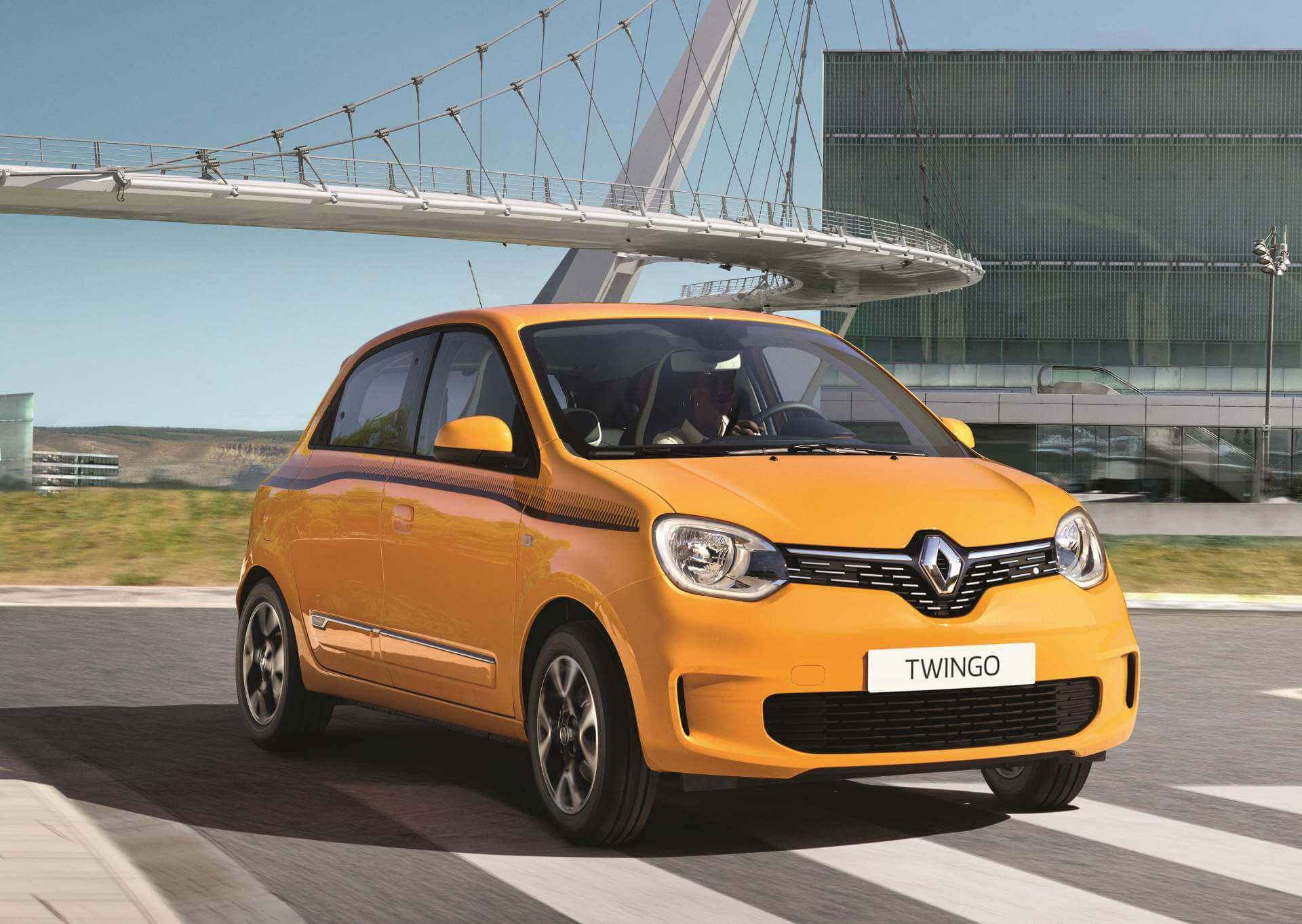 Frontal del renovado Renault Twingo 2019.
