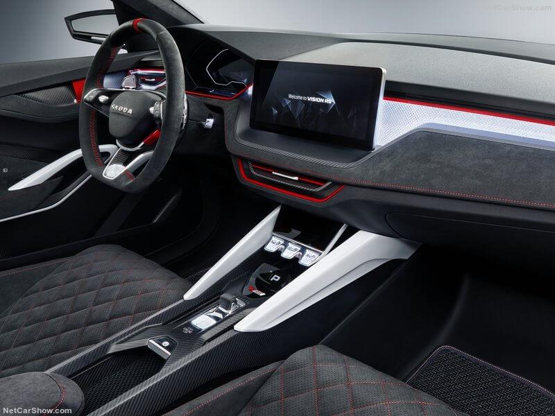 Interior del Skoda Vision RS Concept.