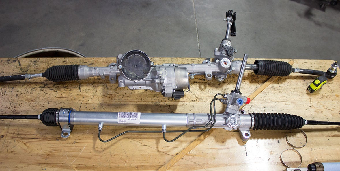 Dirección hidráulica en lugar de eléctrica