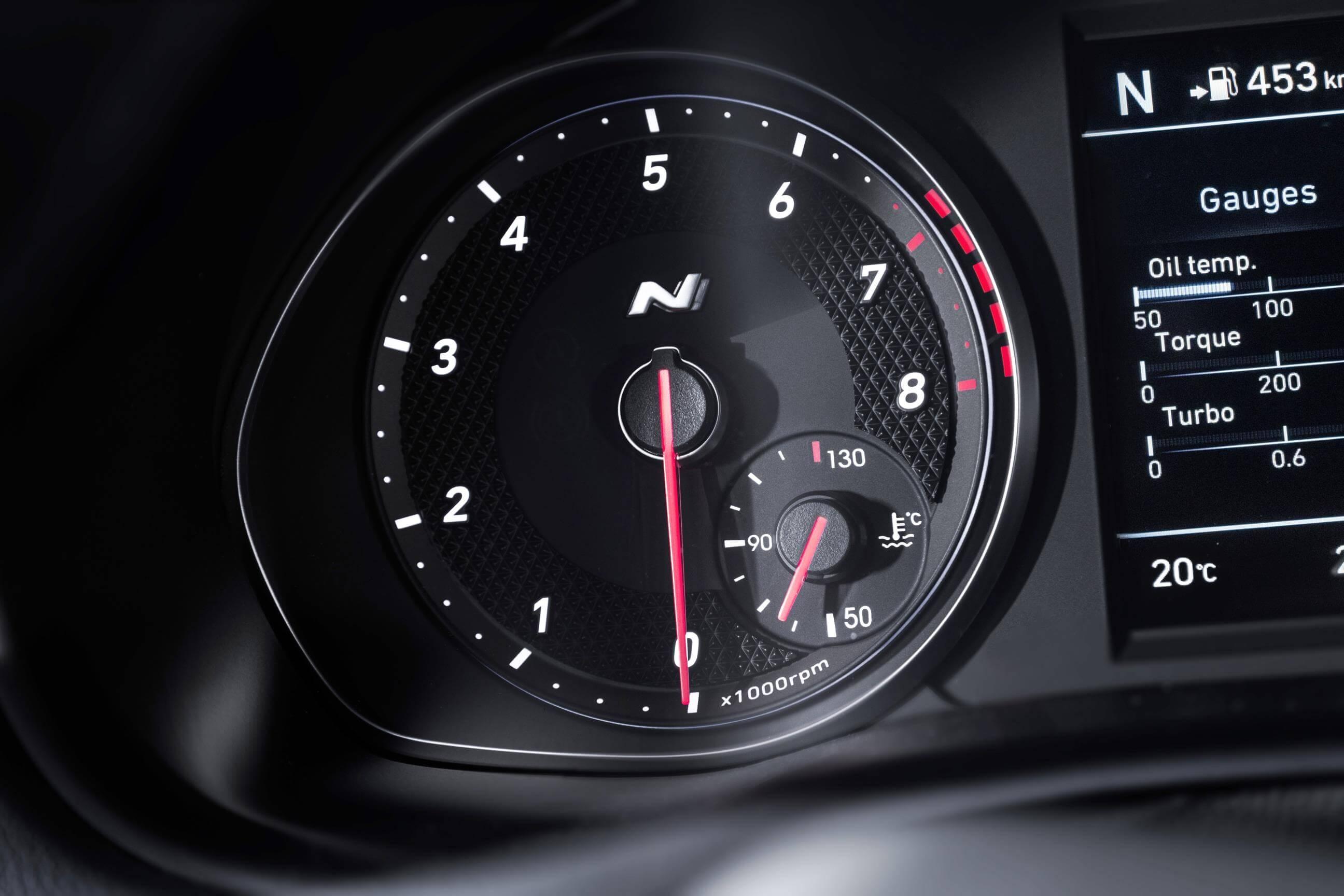 Hyundai i30 Fastback N: instrumentación