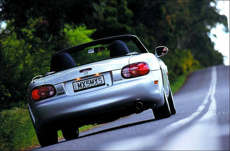 Mazda MX-5 SP Turbo: trasera