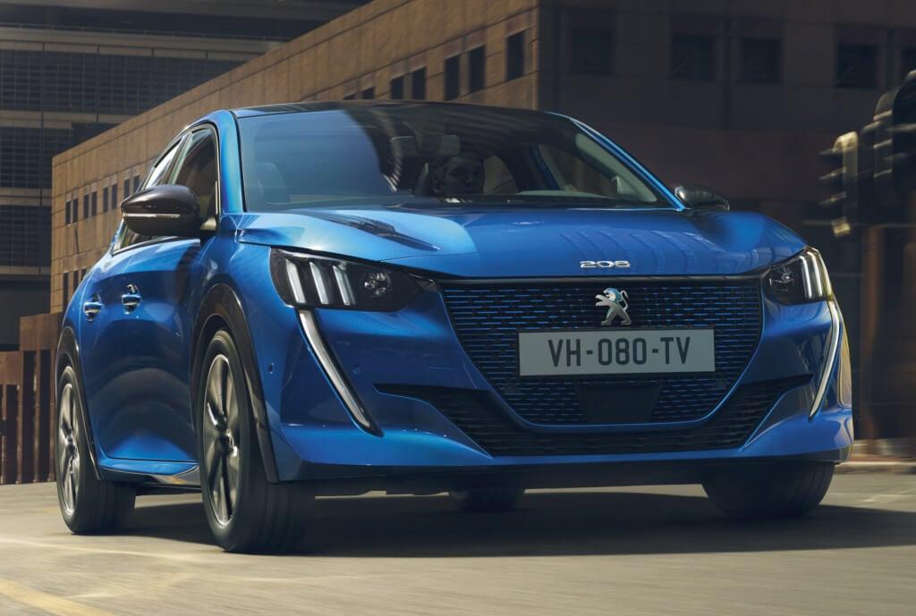 Peugeot e-208 2019: frontal.