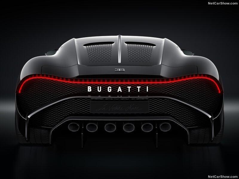 Bugatti La Voiture Noire: trasera