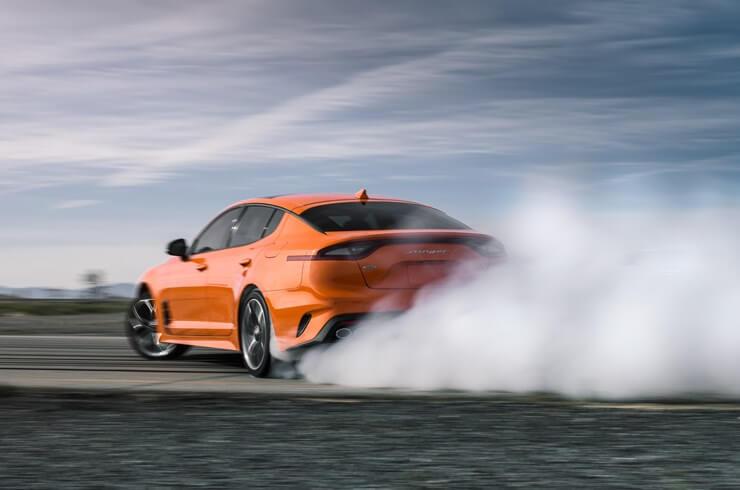 Kia Stinger GTS: modo drift