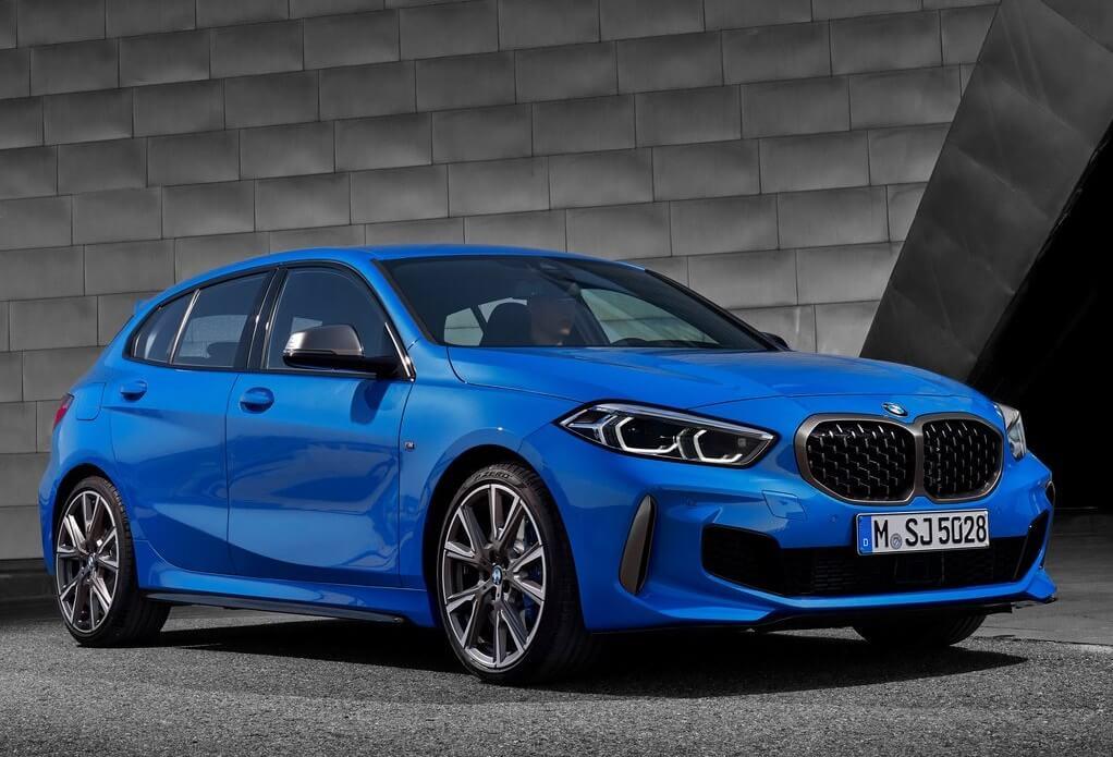 BMW M135i 2019: frontal.