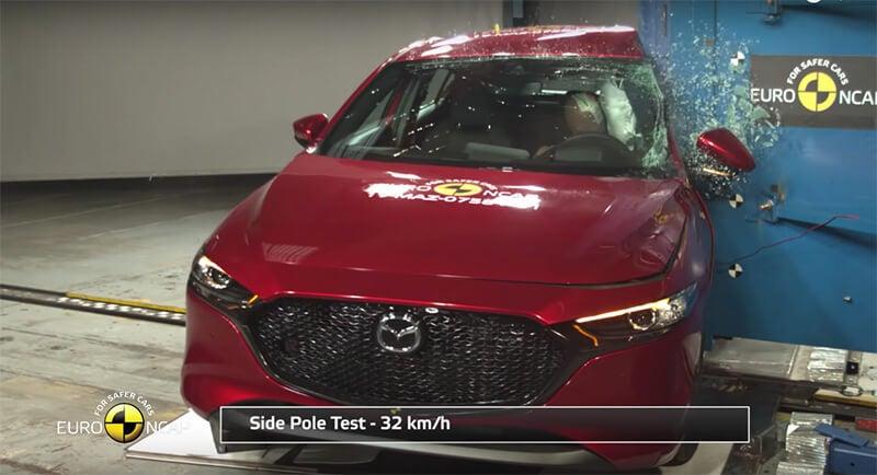 Mazda3 2019, el coche más seguro en golpes del mercado