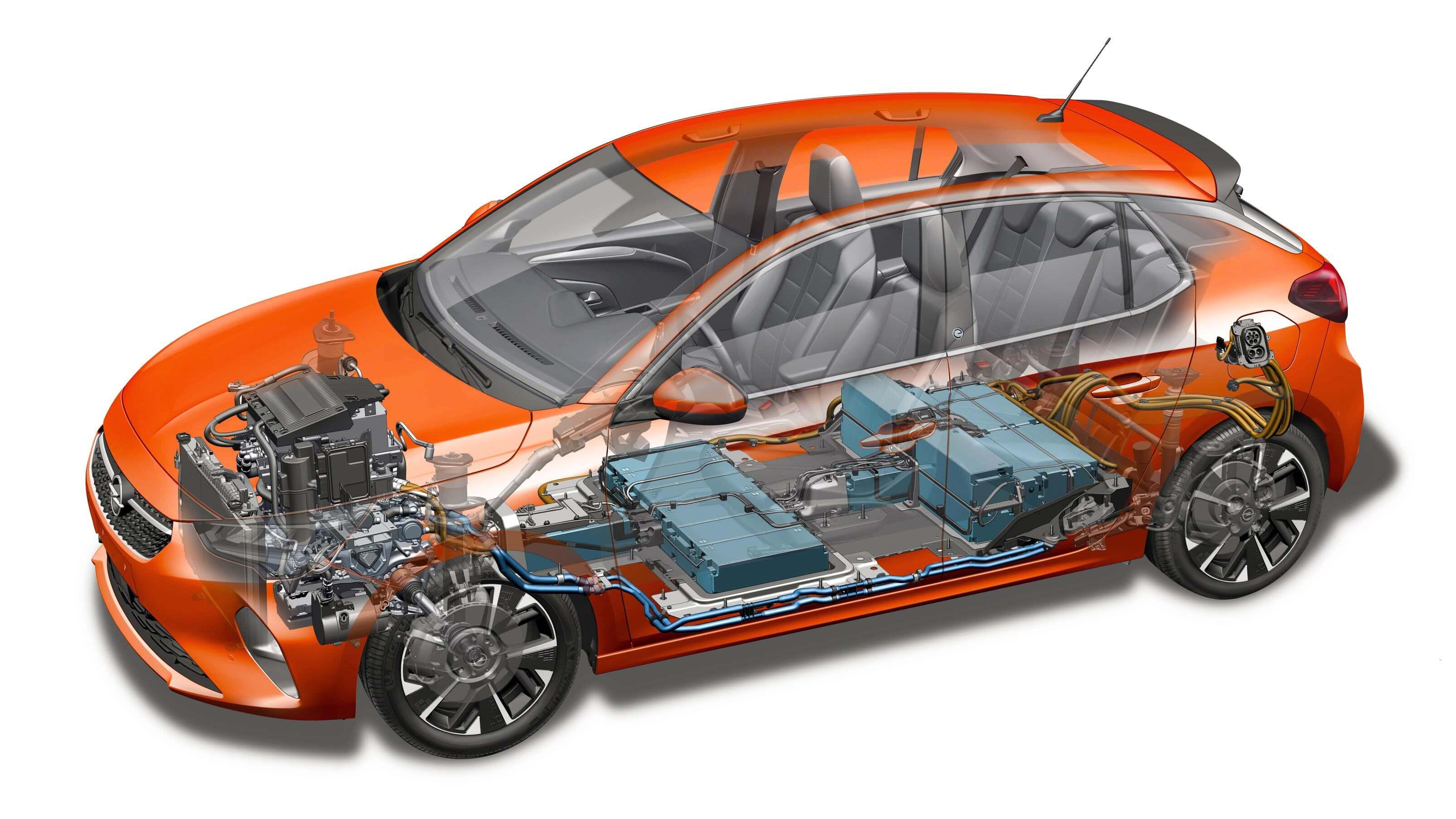 Opel Corsa-e: diagrama