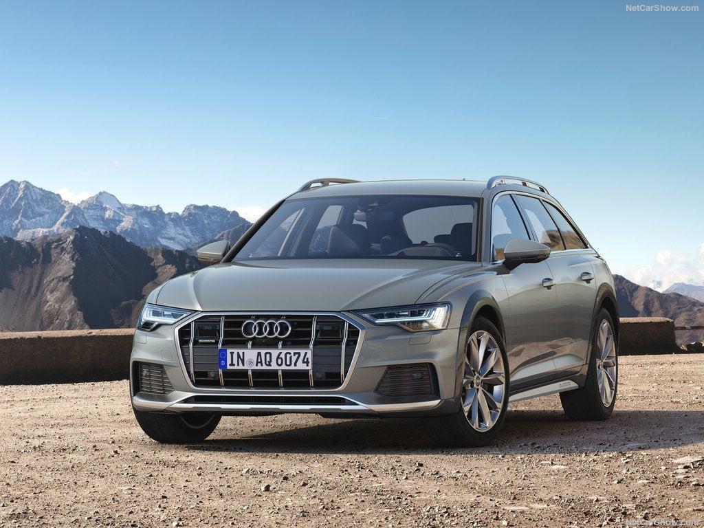 Audi A6 allroad quattro, diseño frontal.