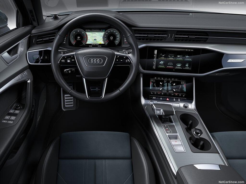 Interior del Audi A6 allroad quattro.
