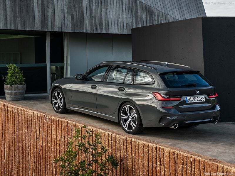 BMW Serie 3 Touring, parte trasera.