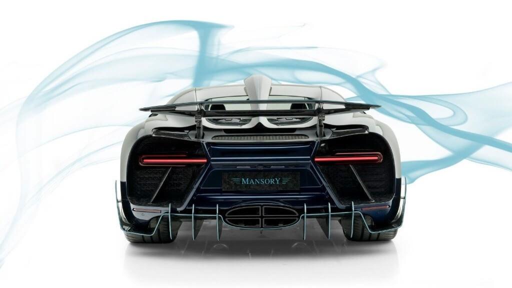 Salidas de escape del Bugatti Chiron Centuria de Mansory.