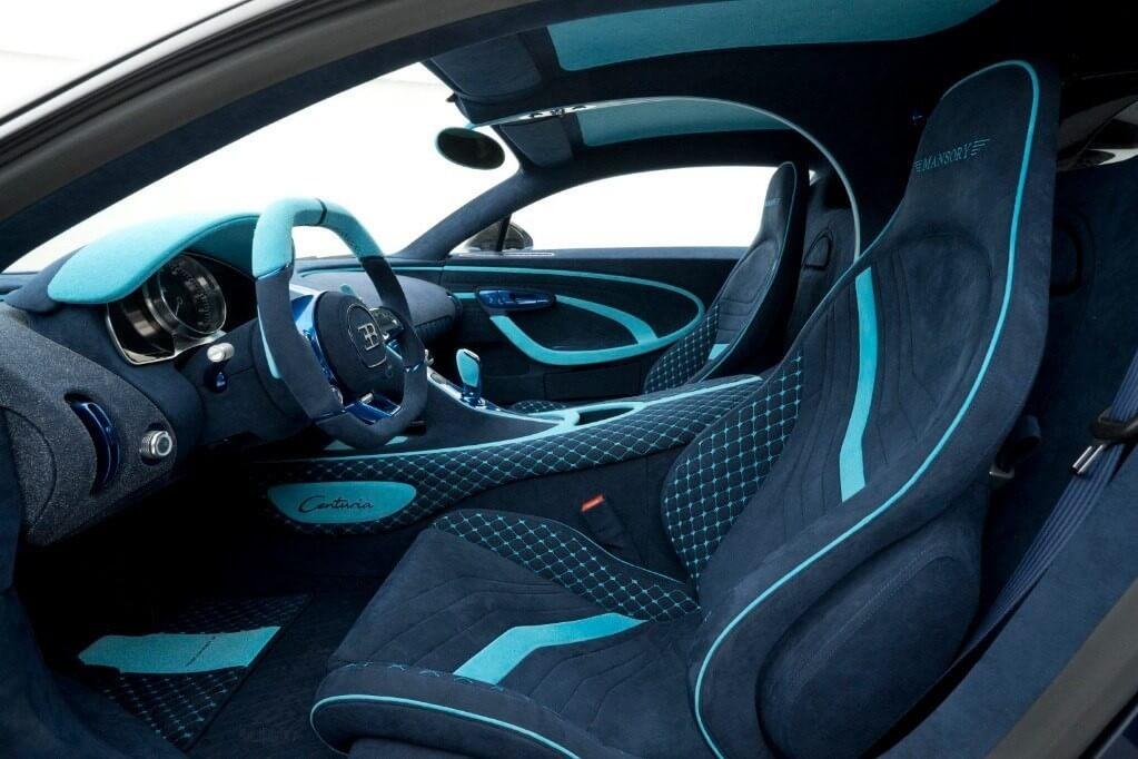 Interior del Bugatti Chiron Centuria de Mansory.