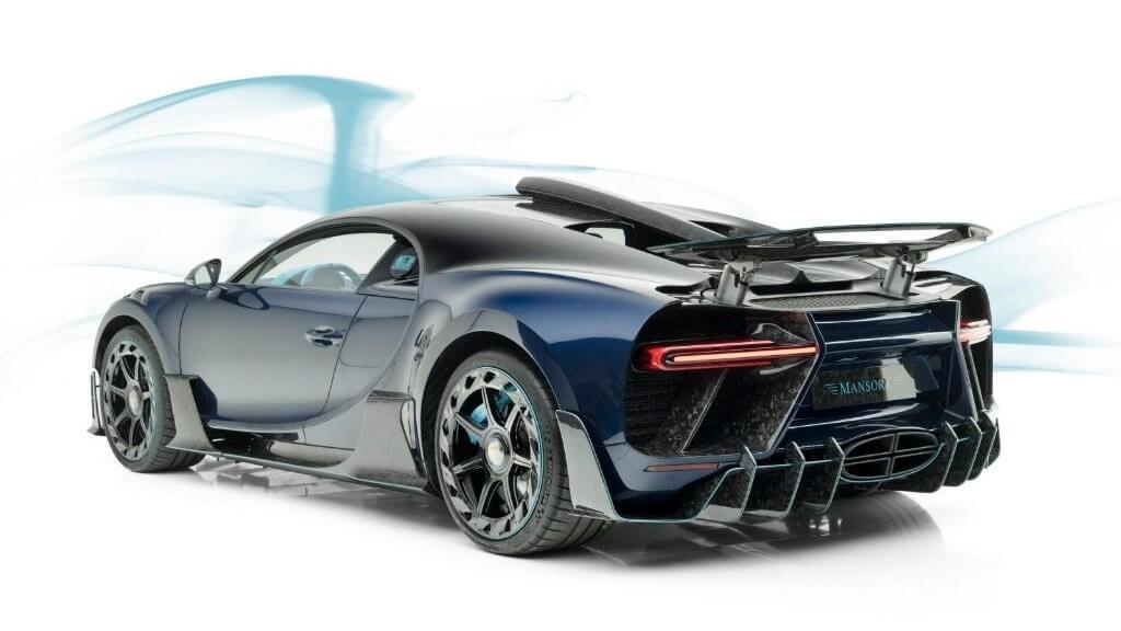 Trasera del Bugatti Chiron Centuria de Mansory