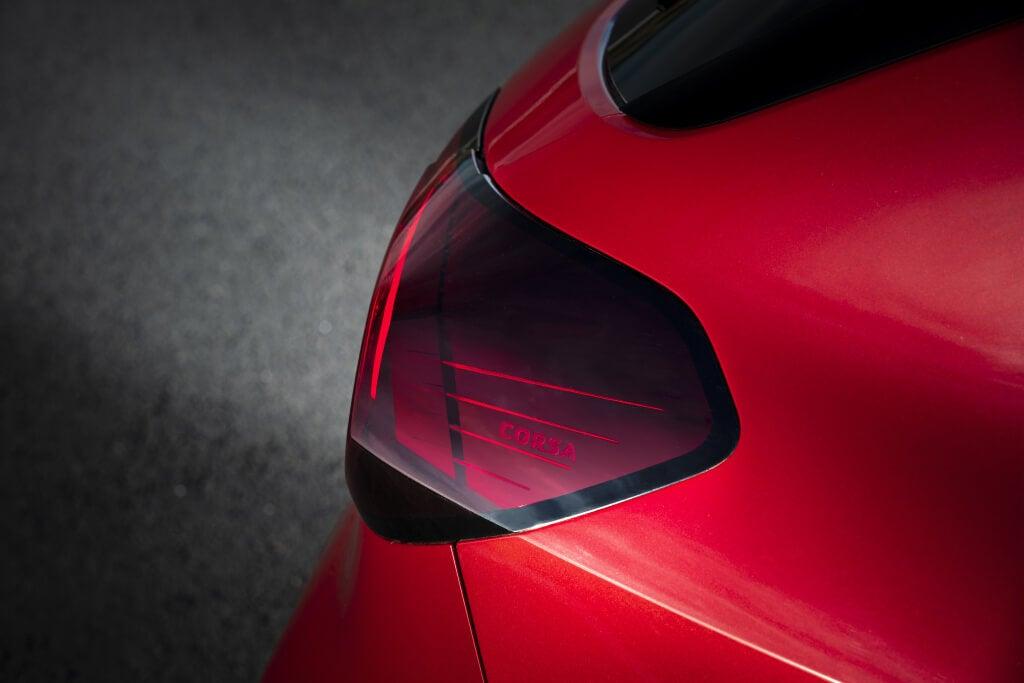 Piloto trasero del Opel Corsa 2019: detalle.