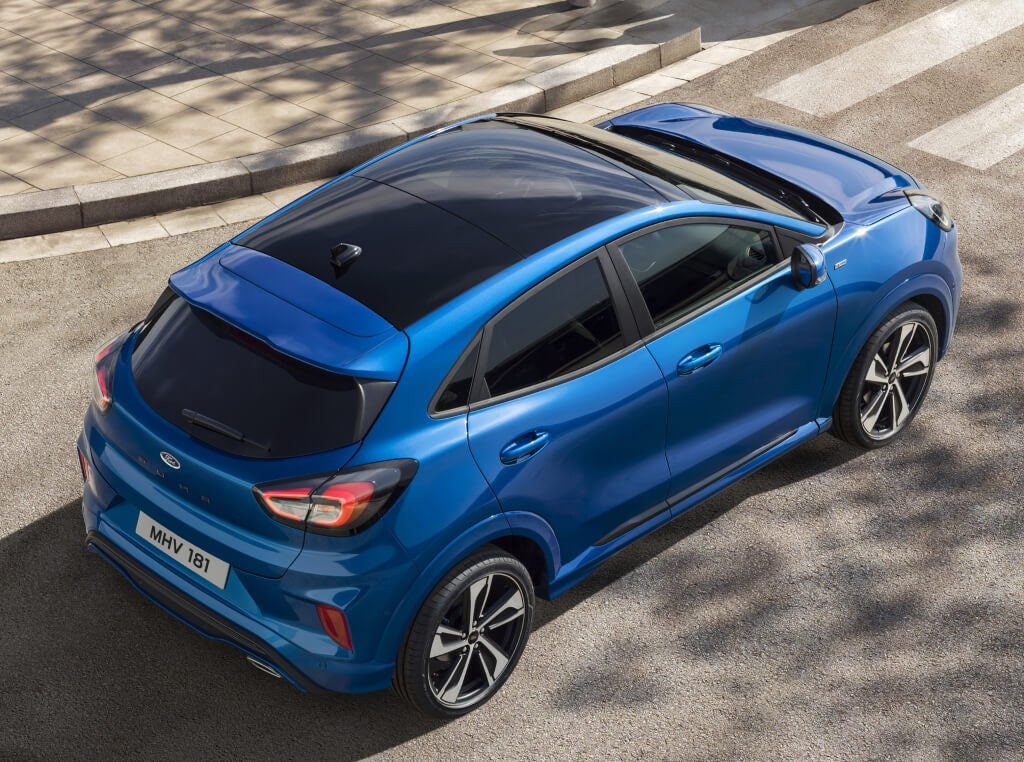 Ford Puma 2019: vista superior.
