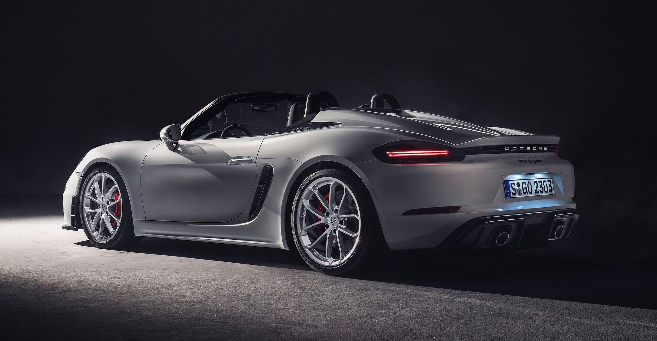 Porsche 718 Spyder 2019: trasera