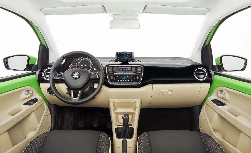 Skoda Citigo: interior.