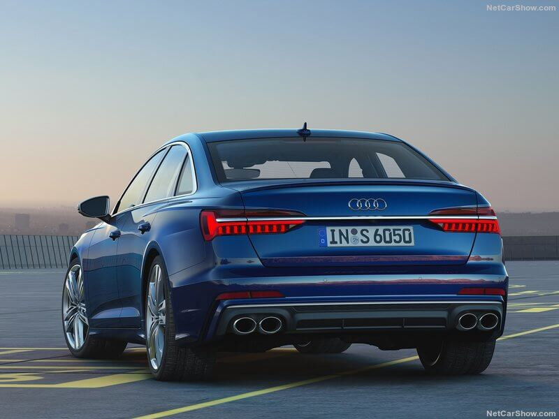 Audi S6 TDI 2020, trasera.
