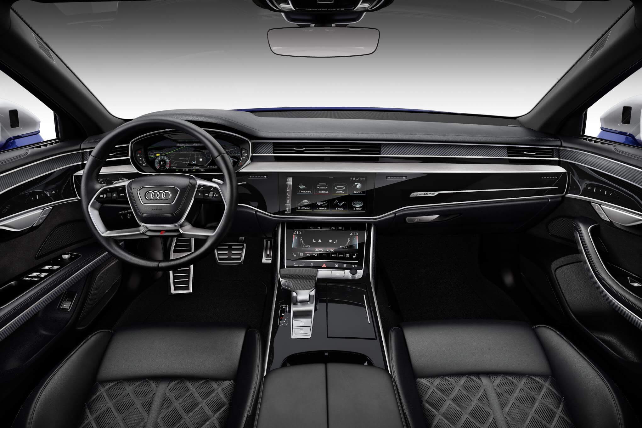 Audi S8 2020: interior.