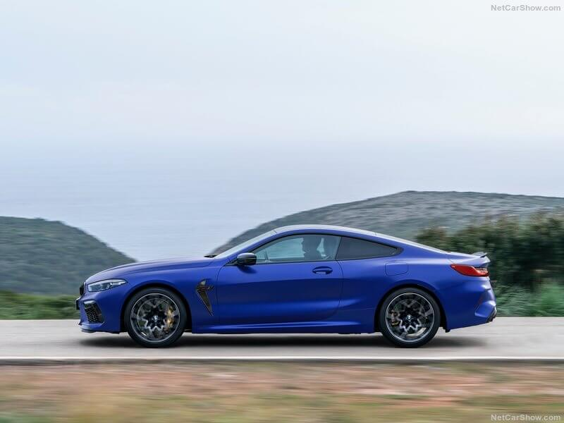 Lateral del BMW M8 Competition.