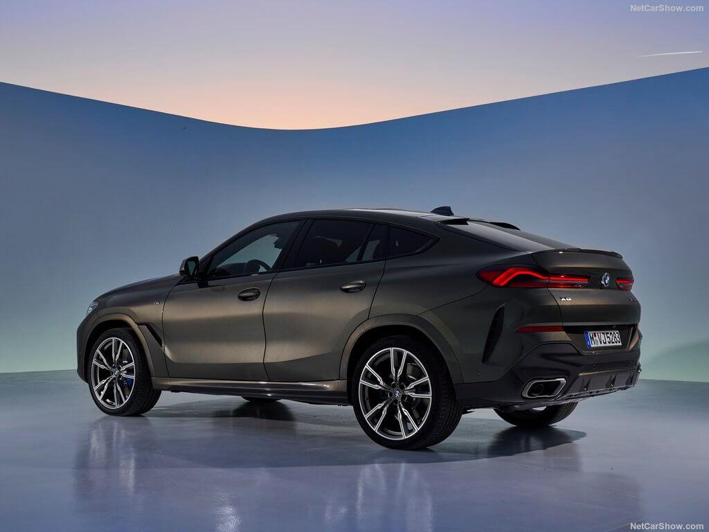 Trasera del BMW X6 2019.