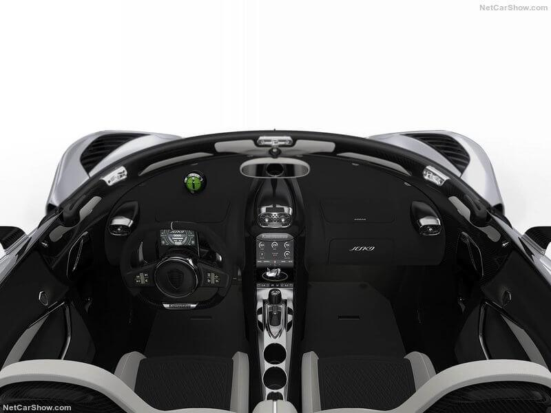 Interior del Koenigsegg Jesko 2020.