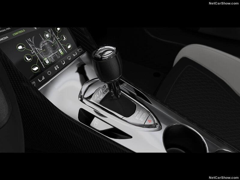 Koenigsegg Jesko 2020, palanca de cambios.