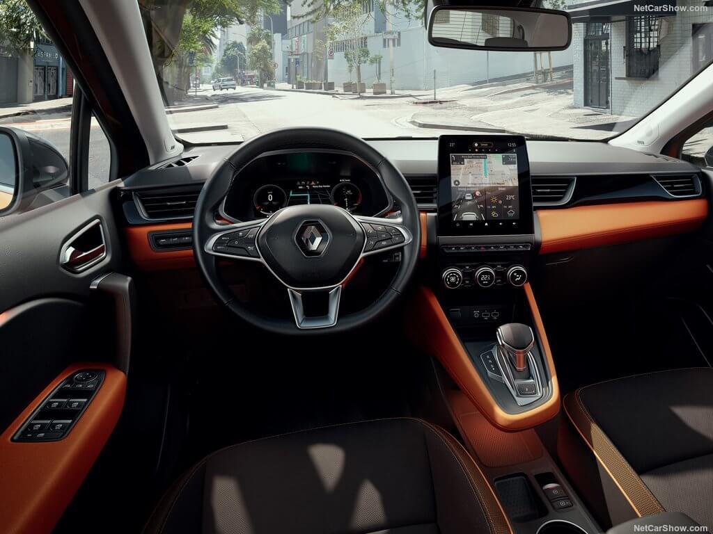 Diseño interior del Renault Captur 2019.