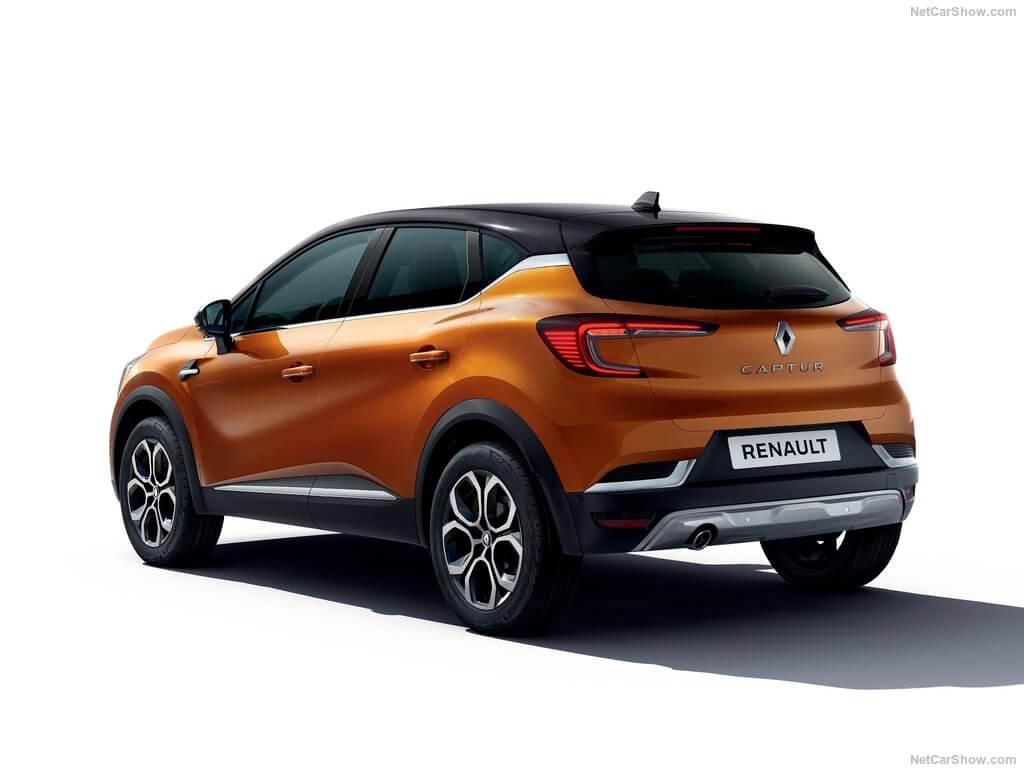 Parte trasera del Renault Captur 2019.