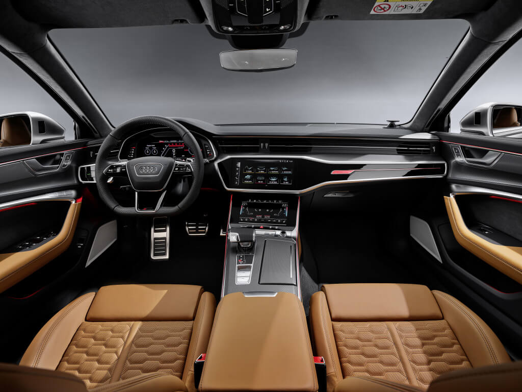Interior del Audi RS6 Avant.
