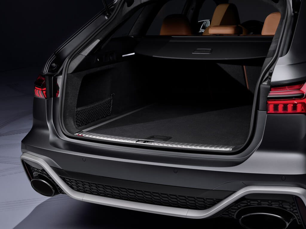 Maletero del Audi RS6 Avant.