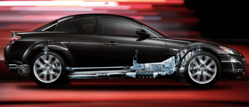 Bajo centro de gravedad del Mazda RX-8