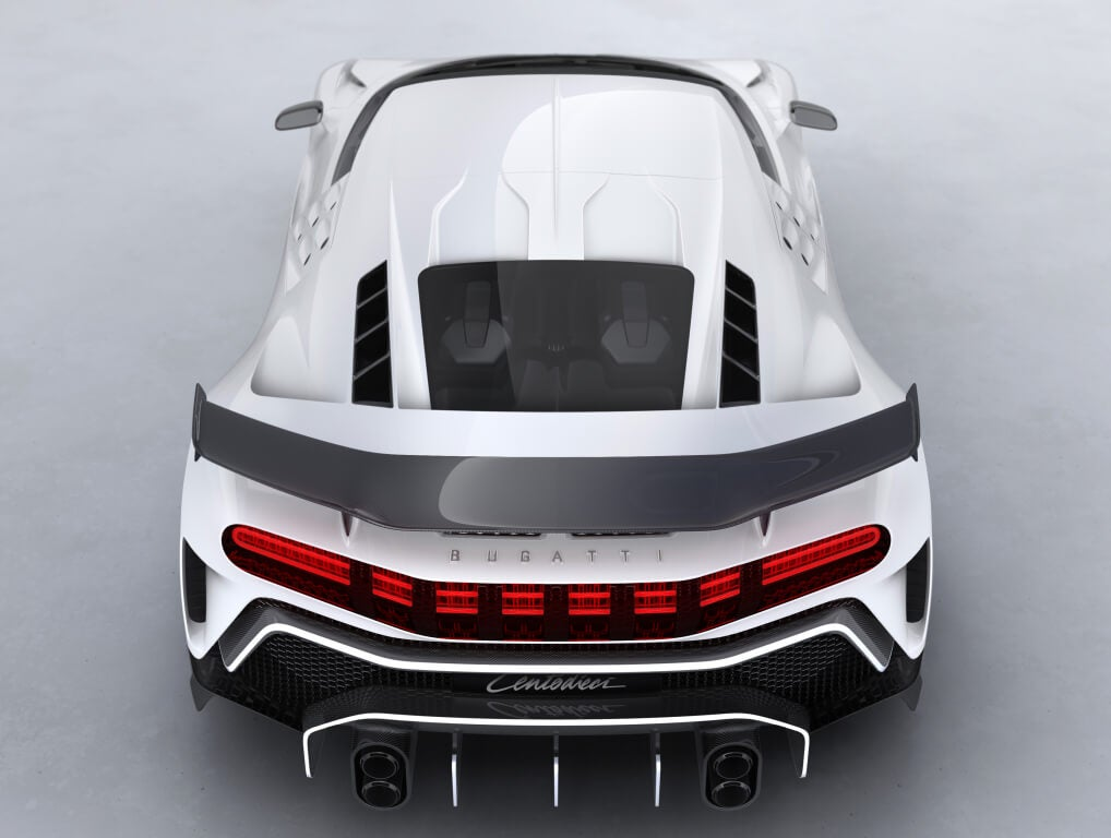 Bugatti Centodieci, alerón trasero.