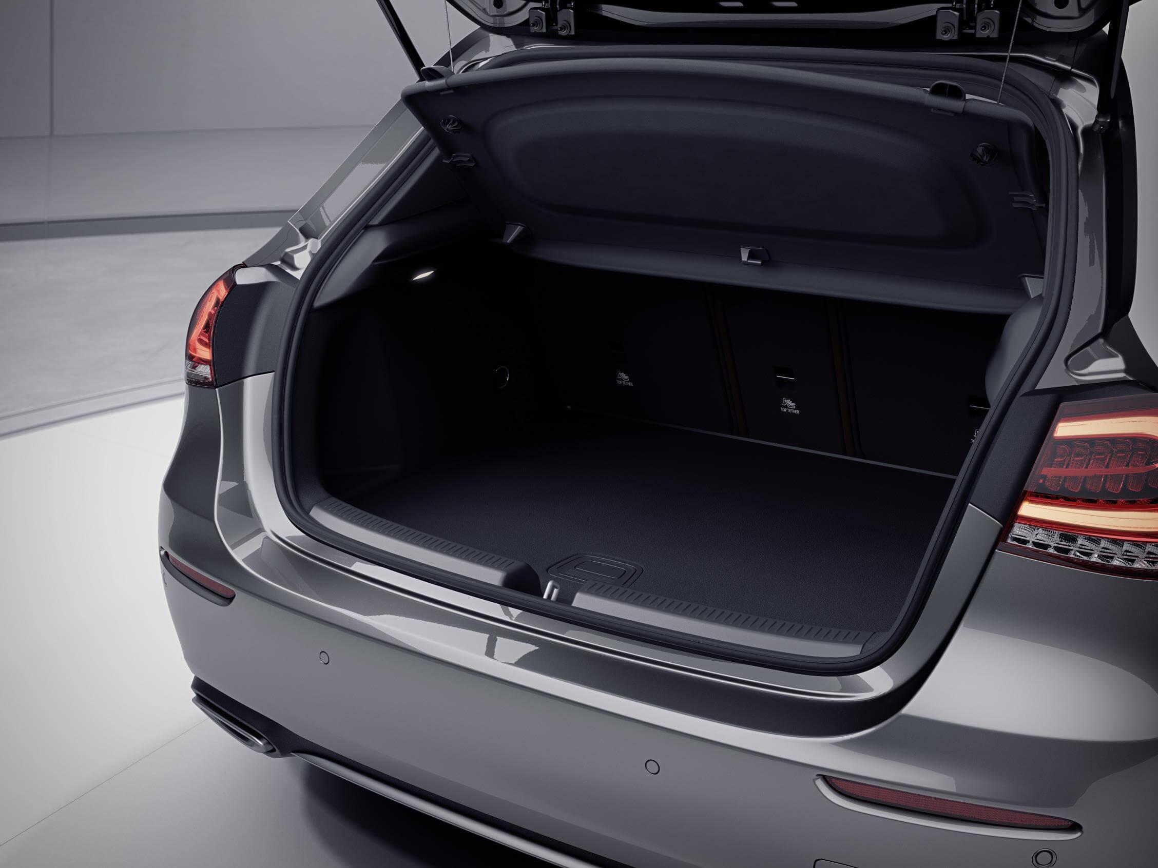 El maletero en los EQ Power de Mercedes apenas se ve afectado en su capacidad