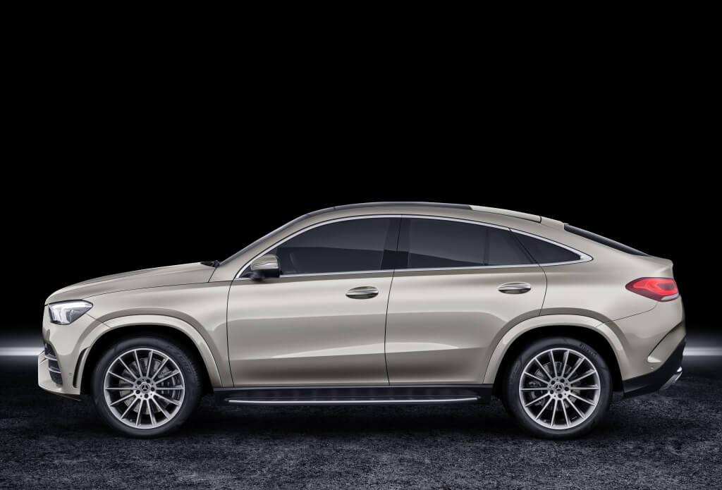 Diseño lateral del Mercedes GLE Coupé.