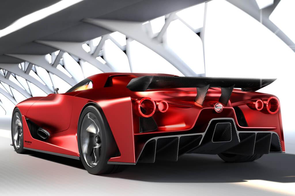 Nissan GT-R Vision GT: zaga.
