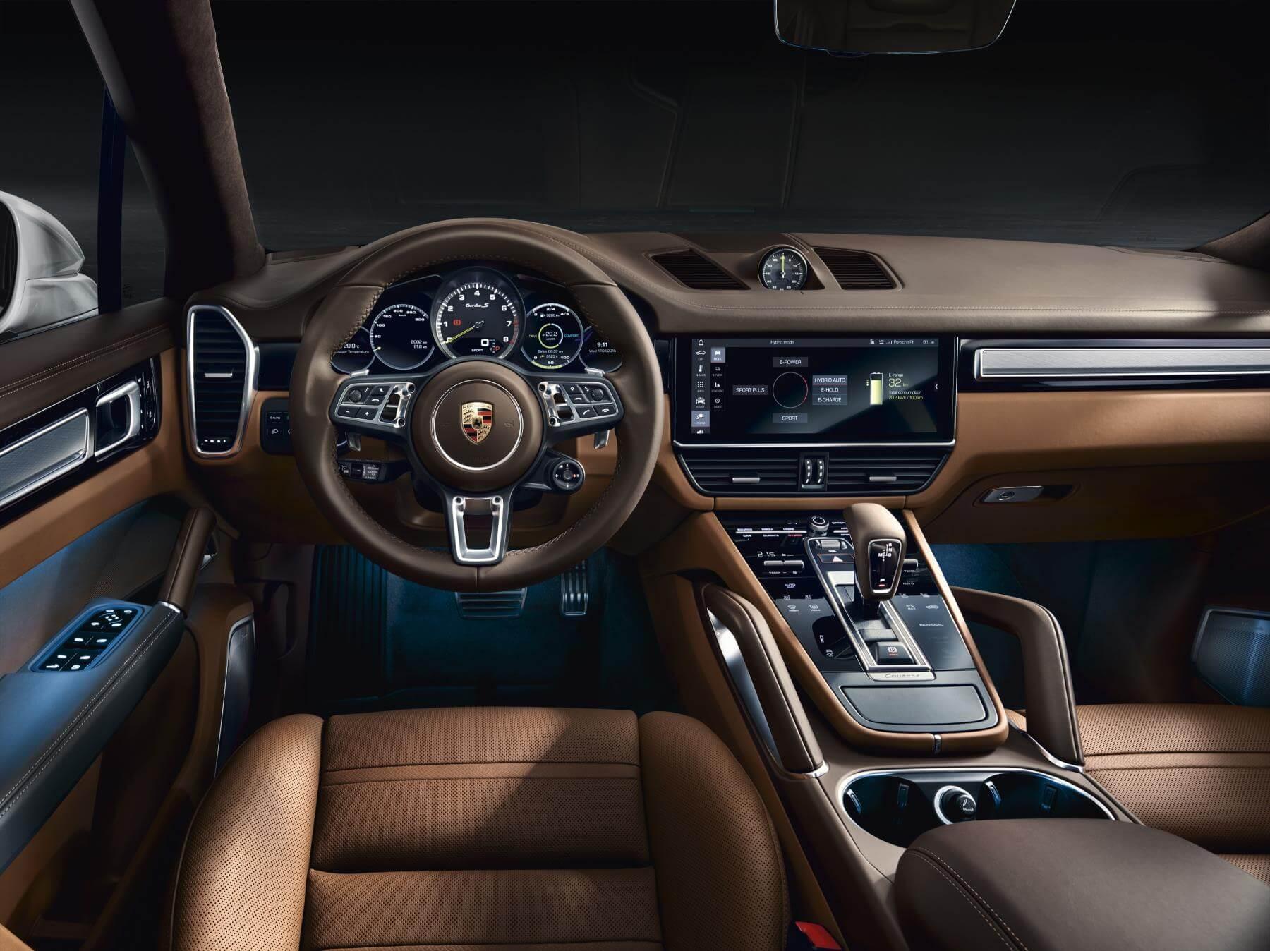 Interior del Porsche Cayenne Turbo S E-Hybrid